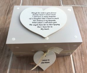 Personalised In Memory Of Box Loved One ~ DAUGHTER ~ any Name Bereavement Loss